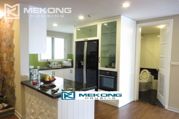 Modern furnished apartment with 3 bedrooms on high floor for rent in E1 tower, Ciputra Hanoi 1