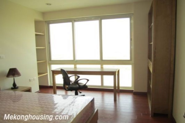 Nicely furnished 3 bedroom apartment with nice view for rent in P1 tower, Ciputra, Tay Ho, Hanoi 1