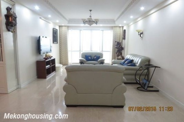 Nicely furnished apartment with 4 bedrooms for rent in P1, Ciputra, Tay Ho, Hanoi 1