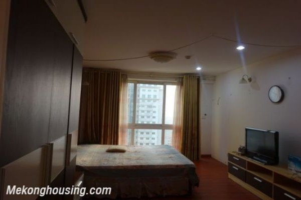 Spacious apartment with nice furniture for rent on high floor in P building, Ciputra, Tay Ho district, Hanoi 1
